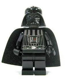 Lego Darth Vader Legs x 1 Black Imperial Star Destroyer Pattern