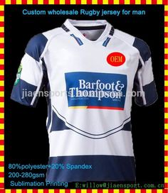 54037d3aec9 OEM service Custom Rugby jersey / rugby jersey shirt with digit sublimation  printing /rugby clothing