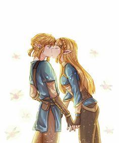 Link and Zelda kiss again! ♥ - Link and Zelda kiss again! The Legend Of Zelda, Legend Of Zelda Memes, Legend Of Zelda Breath, Link Zelda, Link And Zelda Kiss, Anime Wolf, Anime Angel, Anime Outfits, Anime Cosplay