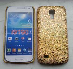 Back-Case Cover für Samsung Galaxy S4 mini / i9190 Glitter-Look Golden