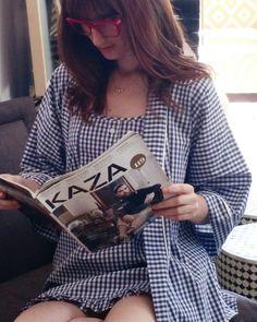 Camisole [ Amelie ]+ Kimono [ Alexa ] #ginghamcheck