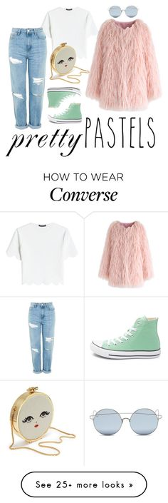 """""""Pretty Pastels"""" by history-lover on Polyvore featuring Alexander McQueen, Topshop, Chicwish, For Art's Sake, Converse, casualoutfit, casualwear and pastelsweaters"""