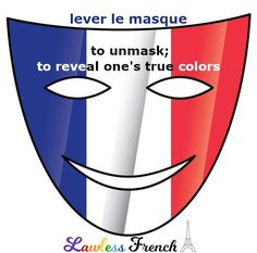 """Don't confuse """"lever le masque"""" with """"enlever le masque"""". As this lesson explains, both involve unmasking but contexts in which they're said are completely different. #learnfrench #French #frenchteacher #lawlessfrench"""