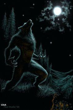 Werwolf. - Animation für Ihr Handy №1372939