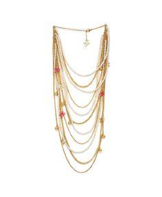 Bild Zandra Rhodes Halskette mehrreihig, Metall,…