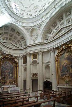Borromini. San Carlo alle Quattro Fontane, Roma. Interior.