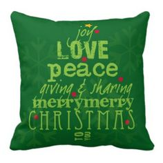 Merry Christmas to You Throw Pillow Happy Holidays Pillows #christmas #home #americanmojo Each pillow purchases help to enrich the lives of single women and their children <3