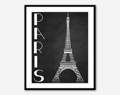 11x14 Print Eiffel Tower Paris Wall Art French by MayFrenzyDesigns, $24.00