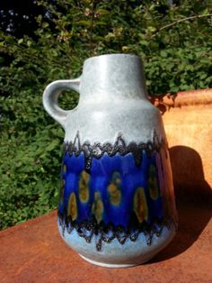 Vintage keramik ceramic fat lava handled West by fcollectables, €45.00