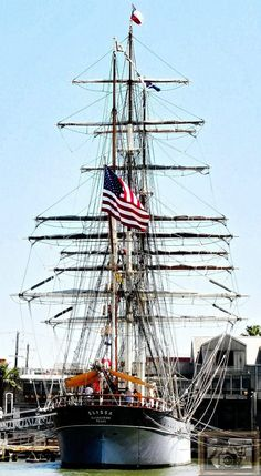 The beautiful Tall Ship Elissa, Galveston, Texas
