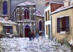 Maurice Utrillo Church In The Snow oil painting reproductions for sale