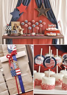4th of July BBQ/Dessert Table. So many great ideas! makes-me-want-a-hotdog-real-bad