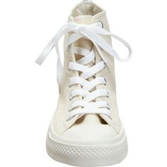Comme des Garçons PLAY Women's Chuck Taylor High-Top Sneakers Si (€33) ❤ liked on Polyvore featuring shoes, sneakers, white, converse, converse sneakers, white high top sneakers, white trainers, converse shoes and converse high tops