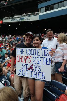 This is awesome! Tomahawk Chop, America's Favorite Pastime, Fan Signs, Braves Baseball, Chop Chop, Sports Humor, Atlanta Braves, Happy Thoughts, Love And Marriage