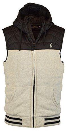 POLO RALPH LAUREN Polo Ralph Lauren Men'S Quilted Fleece Vest With Hood Jacket. #poloralphlauren #cloth #