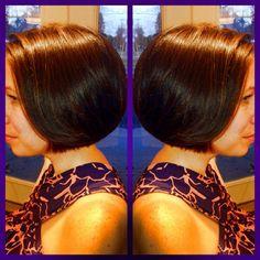 Bob, brunette, short hair, easy hair, salon bogar, tracy dion