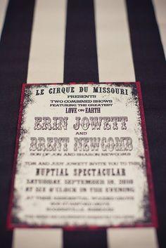 Le Cirque-esque wedding invite