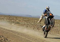 #KTM rider using TKC 80s pops a wheelie with no one else (bar one camera man) in site
