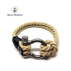 Marine Nautical Bracelet by Bran Marion Nautical Bracelet, Nautical Jewelry, Marine Rope, Everyday Look, Handmade Bracelets, Jewelry Collection, Sailor, Blue And White, How To Make