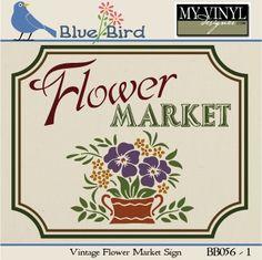 DIGITAL DOWNLOAD ... Garden Vector in AI, EPS, GSD, & SVG formats @ My Vinyl Designer #myvinyldesigner #bluebird