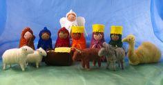 Adorable Wool Felt Full Nativity Set - Collaboration between Alkelda and Bossys Feltworks on  Etsy