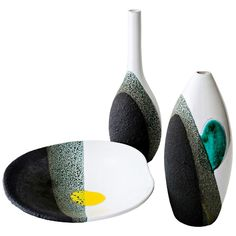 Early Ceramics by Ettore Sottsass | From a unique collection of antique and modern vases at http://www.1stdibs.com/furniture/dining-entertaining/vases/