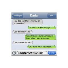 SmartphOWNED ❤ liked on Polyvore featuring text, quotes, funny, random, text messages, phrase and saying
