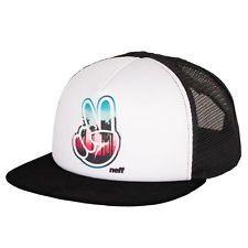 Neff Men's Jackson Trucker Snapback Hat Black Skate Streetwear Baseball Cap