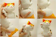 Оформление вязаной игрушки крючком