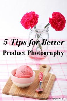 5 Tips For Better Product Photography Want to know how to stage your photos for a shot? Check out these 5 tips to help you to improve your product photography Food Photography Tips, Iphone Photography, Photography Business, Photography Tutorials, Product Photography Tips, Photography School, Photography Books, Photography Backgrounds, Photography Basics