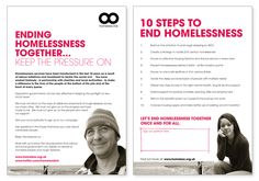 Homeless Link Party Conference Flyers by Michelle Doust, via Behance
