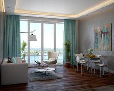 Дизайн интерьера гостиной в современном стиле. Дизайнер Батенин Валентин