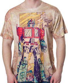 4a4ab9b7 Comic Panel Optimus Prime Transformers Shirt Transformers T Shirts,  Transformers Optimus Prime, Cool Tees