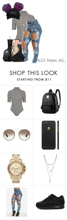 """""""January,31st,2016 """"Twerk it like Miley"""" """" by tymeshalove ❤ liked on Polyvore featuring Topshop, Prada, Michael Kors, Wet Seal, NIKE, women's clothing, women, female, woman and misses"""