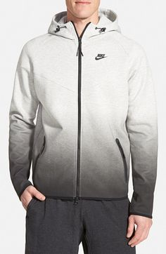 Nike 'Tech Windrunner Fade' Zip Hoodie available at #Nordstrom