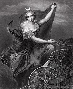 Hecate (as far as I can tell) with the wheel of the year below.