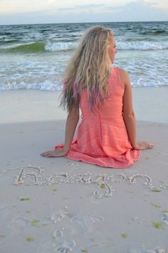 Senior beach pictures idea