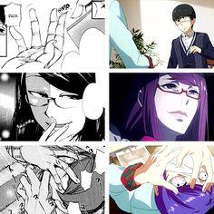 Tokyo Ghoul episode 4 manga vs anime (in gifs) | Anime Amino
