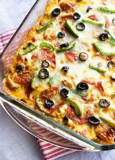 Zucchini turkey pizza lasagna
