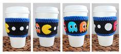 Pac Man Coffee Cozy | Crochet