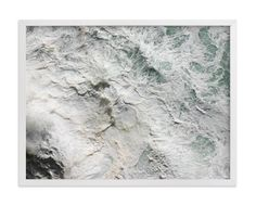 """""""Foaming Sea Water III"""" - Art Print by Becky Nimoy in beautiful frame options and a variety of sizes."""