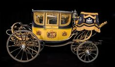 State carriage of the Duke of Northumberland, 1825. More info here: http://twonerdyhistorygirls.blogspot.com/2013/06/here-comes-bride-1825-carriage-for.html
