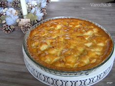 Notentaart - Vianočný orechový koláč Apple Pie, Desserts, Food, Tailgate Desserts, Deserts, Essen, Postres, Meals, Dessert