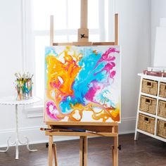 Unleash your inner artist and paint a playful canvas.