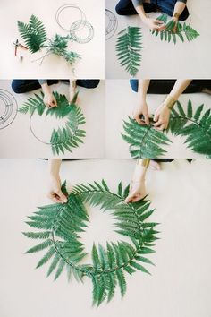 diy fern wedding wreaths / http://www.himisspuff.com/wedding-wreaths-ideas/3/