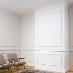 Wall Moulding - Gentle curlicues to fit any interior. This panel moulding's elegant design provides any space with refined allure. Wall Moulding Panels, Wall Trim, Ceiling Panels, Ceiling Rose, Ceiling Decor, Wall Decor, White Wall Paneling, White Walls, Wall Panelling