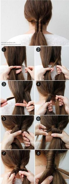 14 Braid Tutorials, die Sie ausprobieren möchten - - 14 Tutoriales de trenzas que querrás probar Minimalistischer Zopf: - Box Braids Hairstyles, Pretty Hairstyles, Hairstyle Braid, Blonde Hairstyles, Little Girl Hairstyles, Tips Belleza, Hair Dos, Hair Designs, Hair Hacks