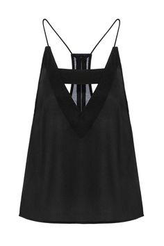 Black Cami with Front Cut Out   Easy returns to the US!   Email shopping 0f28348d5e