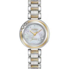 Citizen Eco-Drive L Carina Two-Tone Ladies Watch EM0464-59D, Size: mm, Silver