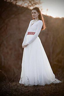 wedding dress inspired by Slovak culture